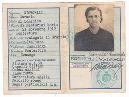 REGNO D'ITALIA - CARTA DI IDENTITA' - 1943 XXI° - FASCISMO - Documenti Storici