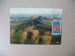 Carte Maximum 1975    N° 1850  Régions  Auvergne - 1970-79