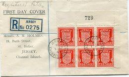 JERSEY OCCUPATION ALLEMANDE LETTRE RECOMMANDEE DEPART JERSEY 1 AP 41 CHANNEL ISLANDS POUR JERSEY - Jersey