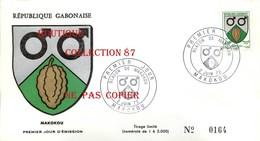 ☺♦♦ LOT De 3 FDC < BLASON De MAKOKOU + TCHIBANGA + FRANCEVILLE En 1972 - FEVE De CACAO < GABON PREMIER JOUR - Gabon