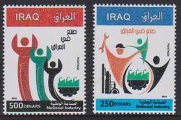IRAQ, 2018, MNH, NATIONAL INDUSTRY, WORKERS, 2v - Factories & Industries