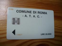 Phonecard Italy - Roma - Da Identificare