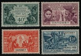 Dahomey 1931 - Mi-Nr. 92-95 ** - MNH - Kolonialausstellung - Dahome (1899-1944)