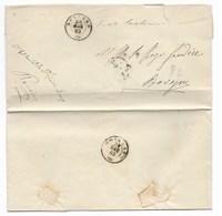 DA BOVEGNO PER CITTA' - 28.5.1865 - CORPO DEI CARABINIERI REALI. - Italia