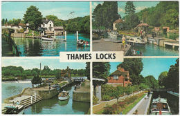 THAMES LOCKS Multiview Posted 1970 (Publisher's Ref PLC9719) - Ships