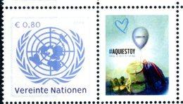ONU Vienne 2018 - 1 Timbre Détaché De Feuille De Timbres Personnalisés UNODC Blue Heart Campaign Human Trafficking ** - Centre International De Vienne