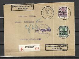 Belgique     Lettre Recommandée Expres   De Etterbeek   Du 15  VIII  1915    Pour Bréda  ( Pays Bas  ) - WW I
