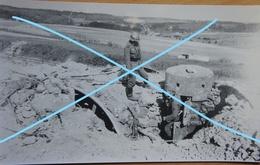 Photo X5 Fort De MARCHOVELETTE Namur Bunker Fortification Soldats Allemands Coupoles Canon Gun WW2 Mai 1940 - War, Military