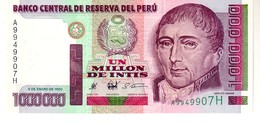 Peru P.148 1000000 Intis 1990  Unc - Perù