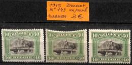 D - [830790]TB//**/Mnh-Belgique 1915 - N° 143, Nuances, Eglises Et Cathédrale, Ponts - 1915-1920 Albert I