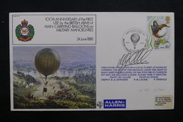 ROYAUME UNI - Enveloppe Par Ballon En 1980 , Voir Cachets - L 31891 - Covers & Documents