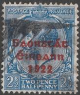 ~~~ Ierland Ireland 1922 - Free State Overprint  - Mi. 16 I (o) - CV 17.00 Euro ~~~ - 1922-37 Stato Libero D'Irlanda