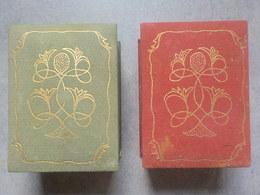 2 Boîtes Anciennes Rares Vides Pour Parfum Ancien Fleur Stylisée - Miniatures (avec Boite)
