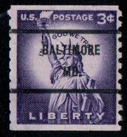 """USA Precancel Vorausentwertung Preo, Locals """"BALTIMORE"""" (MD). - United States"""