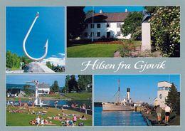 1 AK Norwegen * Ansichten Von Gjøvik - Provinz Oppland * - Norwegen