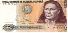 Peru P.134 500 Intis 1985  Unc - Perù