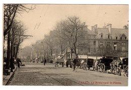 CPA Caen 14 Calvados Attelage Chevaux En Attente Boulevard Saint Pierre éditeur LD N°35 - Caen