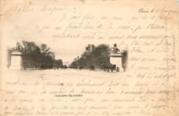 CARTE PRECURSEUR PARIS CHAMPS ELYSEES DATEE 1898 TIMBRE TYPE SAGE - Champs-Elysées