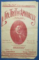 CAF CONC RUE POPULAIRE PARTITION PAUL CHAGNOUX ROGER MOURIZE 3 TITRES 1927 SONNELLY AMOUREUX VIOLONS MUSE FAMILIALE - Music & Instruments