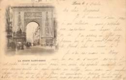 CARTE PRECURSEUR PARIS LA PORTE SAINT DENIS DATEE 1898 TIMBRE TYPE SAGE - Francia