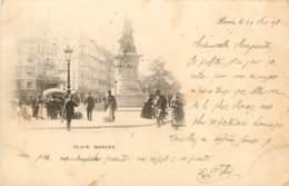 CARTE PRECURSEUR PARIS PLACE MONCEY DATEE 1898 TIMBRE TYPE SAGE - Francia
