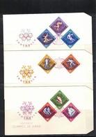 Romania 1964 Olympic Games Innsbruck Imperforated Set FDC - Winter 1964: Innsbruck