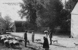 DPT 23 LA CHAPELLE-SAINT-MARTIAL Place De L'Eglise - Autres Communes