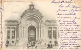CARTE PRECURSEUR PARIS LE PETIT PALAIS FACADE  EXPOSITION DATEE  1900 TIMBRE TYPE SAGE   UNIVERSELLE - Expositions