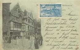 CARTE PRECURSEUR PARIS LE VIEUX PARIS EXPOSITION UNIVERSELLE DATEE 1900 TIMBRE TYPE SAGE ET VIGNETTE EXPO - Ausstellungen