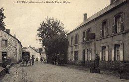 DPT 23 LEPINAS La Grande Rue Et L'Eglise - Autres Communes