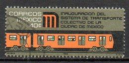 MEXIQUE. N°756 Oblitéré De 1969. Métro De Mexico. - Strassenbahnen