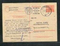 "Berlin / 1951 / Postkarte Mi. P 4 Masch.-Stempel Berlin ""Messe Hannover"" (17453) - [5] Berlin"