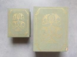Boîte Ancienne Rare Vide Pour Parfum Ancien Fleur Stylisée Grand Modèle - Miniature Bottles (in Box)