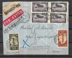 MAROC     Lettre Recommandée PAR AVION De Marrakech    Du 31 01 1931     Pour  Lucerne - Maroc (1891-1956)