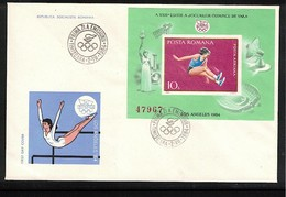 Romania 1984 Olympic Games Los Angeles Michel Block 208 FDC - Sommer 1984: Los Angeles