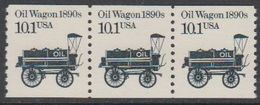 USA 1985 Oil Wagon 1890s 1v Strip Of 3 ** Mnh (43109F) - Verenigde Staten