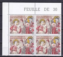 N° 3385 Série Artistique: Hôtel Des Chevaliers De Saint-Jean-de-Jérusalem: Bloc De 4 Timbres Neuf - France
