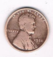 ONE CENT 1920   USA /4676/ - Émissions Fédérales