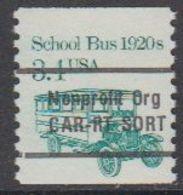 USA 1985 School Bus 1920s Nonprofit Org 1v ** Mnh (43109G) - Verenigde Staten