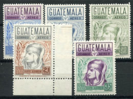 Guatemala 1969 Mi. 867-871 MNH 100% Dante Alighieri, Poet And Politician. - Guatemala
