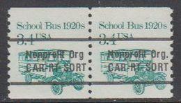 USA 1985 School Bus 1920s Nonprofit Org 1v (pair) ** Mnh (43109H) - Verenigde Staten
