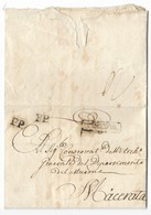 PERIODO NAPOLEONICO - DA CAMERINO A MACERATA - SPL. - 1. ...-1850 Prefilatelia