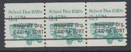 USA 1985 School Bus 1920s Nonprofit Org 1v Strip Of 3 ** Mnh (43109I) - Verenigde Staten