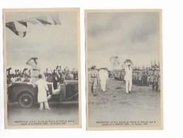 DE GAULLE Lot De 4 Cartes D AEF Arrivée De Gl DE GAULLE A Brazzaville - Other Wars