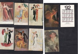 8 Pocket Calendars 1992 .The History Of Dance. - Calendari
