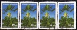 Madagascar 2002 Ravinala / Arbres / Plantes Tropicales / Tropical Plant  N° 1835  Oblitéré Used Bande De 4 Timbres - Madagascar (1960-...)