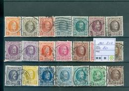 190-210 Obl Côte 20.00€ - 1922-1927 Houyoux