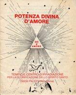 Palestrina Roma - Santino Depliant POTENZA DIVINA D'AMORE, Tempio Glorificazione Spirito Santo  - OTTIMO R9- - Religione & Esoterismo