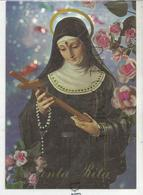 Santa Rita. Roses, Crucifix, Chapelet. - Saints