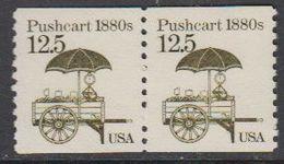 USA 1985 Pushcart 1880s 1v (pair) ** Mnh (43109H) - Verenigde Staten
